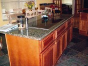 #5 custom granite cherry island semi gloss seal
